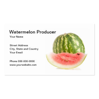 Watermelon Producer Business Card