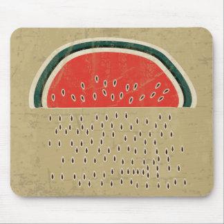 Watermelon Raining Seeds Mouse Pad