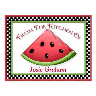 Watermelon Recipe Cards