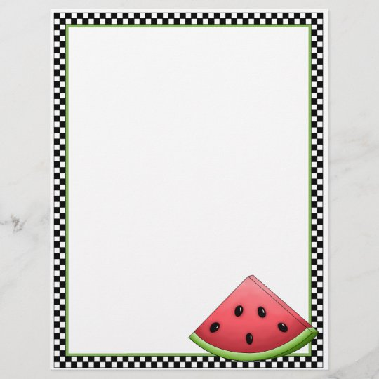 watermelon recipe sheets zazzle com