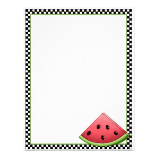 Watermelon Recipe Sheets Letterhead