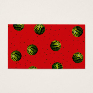 watermelon red and seeds business card