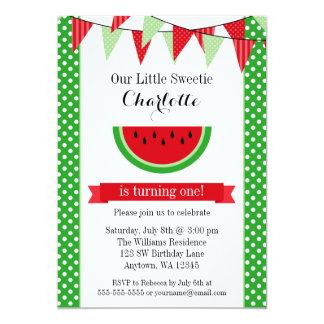 Watermelon Birthday Invitations & Announcements | Zazzle