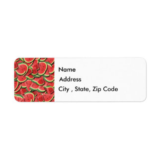 Watermelon Return Address Label