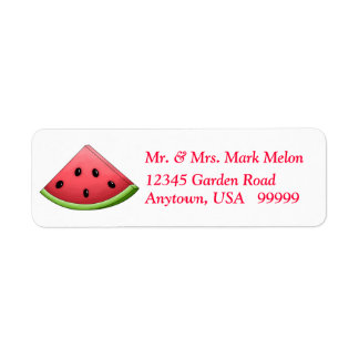 Watermelon Return Address Labels