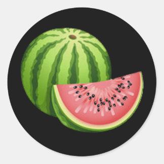 Watermelon Round Stickers