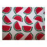 Watermelon Scrapbooking Paper Customized Letterhead