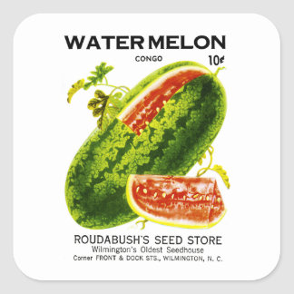 Watermelon Seed Packet Label