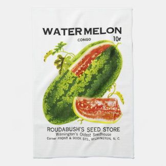 Watermelon Seed Packet Label Towels