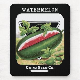 watermelon seeds vintage art mouse pad