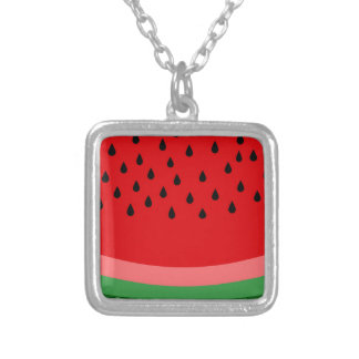Watermelon Silver Plated Necklace