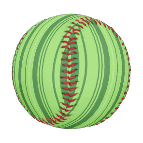 Watermelon Skin Green Design Baseball