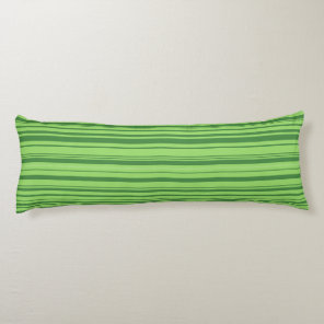Watermelon Skin Horizontal Stripes Green Body Pillow