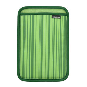 Watermelon Skin Vertical Stripes Green iPad Mini Sleeve