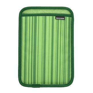 Watermelon Skin Vertical Stripes Green iPad Mini Sleeve
