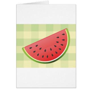 Watermelon Slice Card