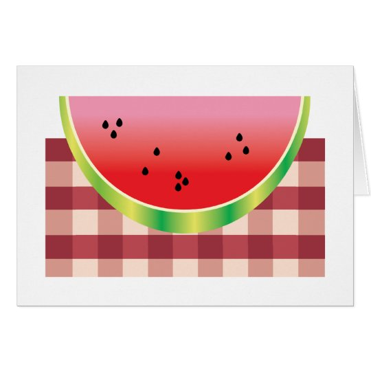 Watermelon Slice Card