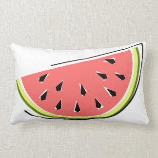 Watermelon Slice checked back lumbar Pillow