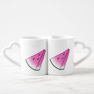 Watermelon slice coffee mug set