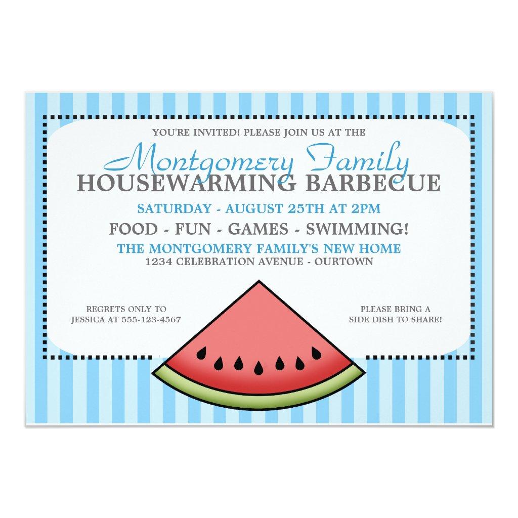 Watermelon Slice Family Housewarming Invitations
