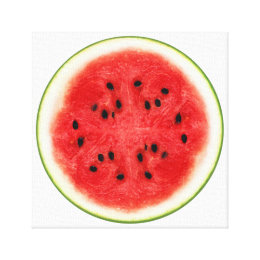 Watermelon Slice Fruit Art Canvas Print