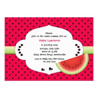 Watermelon Slice Invitation