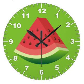 Watermelon slice large clock