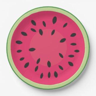 Watermelon Slice Paper Plate