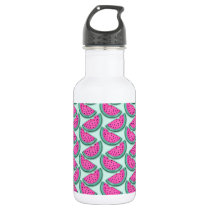 watermelon slice print water bottle