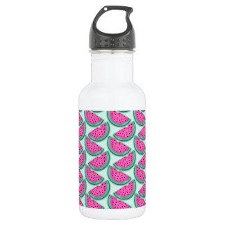 watermelon slice print water bottle