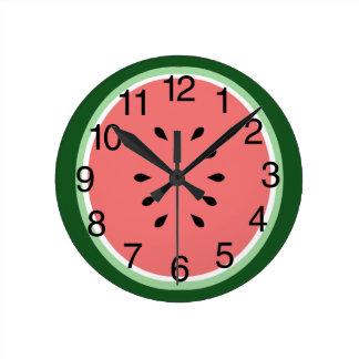 Watermelon Slice Round Clock