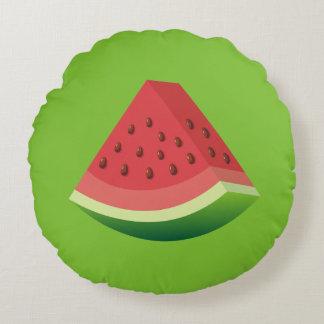 Watermelon slice round pillow