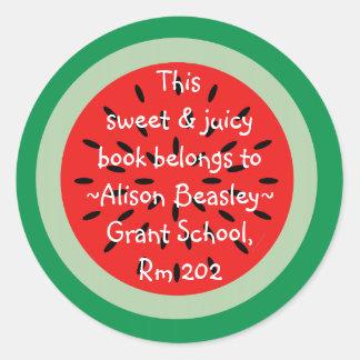 Watermelon Slice Schoolbook Sticker