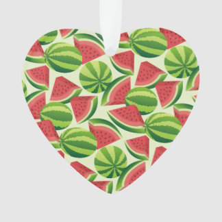 Watermelon slice seamless background ornament
