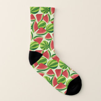 Watermelon slice seamless background socks