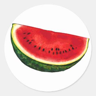 Watermelon Slice Round Sticker