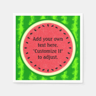 Watermelon Slice Summer Fruit Personalized Napkin