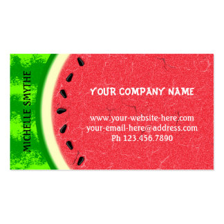 Watermelon Slice Summer Fruit with Rind Business Card