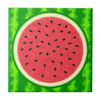 Watermelon Slice Summer Fruit with Rind Ceramic Tile