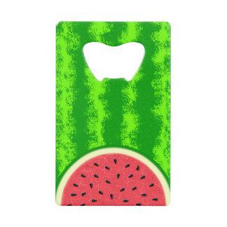 Watermelon Slice Summer Fruit with Rind Credit Card Bottle Opener