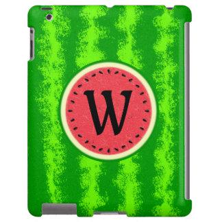 Watermelon Slice Summer Fruit with Rind Monogram