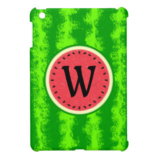 Watermelon Slice Summer Fruit with Rind Monogram Cover For The iPad Mini