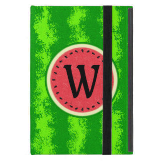 Watermelon Slice Summer Fruit with Rind Monogram iPad Mini Cover