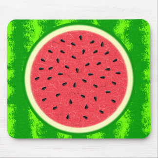 Watermelon Slice Summer Fruit with Rind Mouse Pad