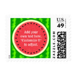 Watermelon Slice Summer Fruit with Rind Postage Stamp
