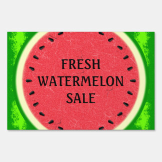 Watermelon Slice Summer Fruit with Rind Lawn Signs