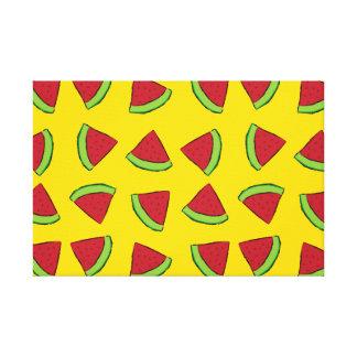 Watermelon Slices Canvas Print