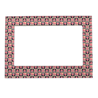 Watermelon Slices - Checkered Pattern Magnetic Photo Frame