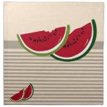 Watermelon slices cloth napkin