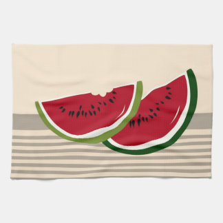 Watermelon slices hand towels